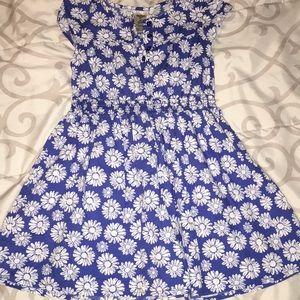 Oshkosh blue and white daisy dress